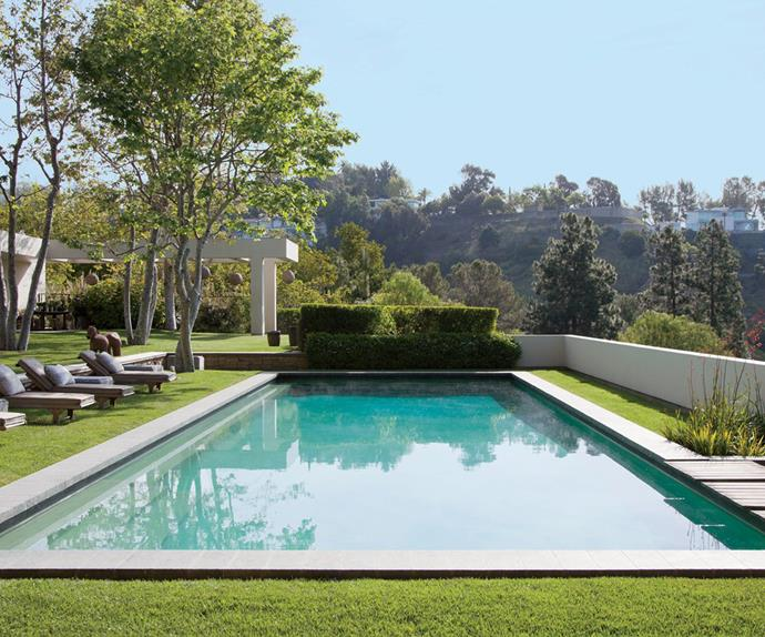 Celebrity swimming pools