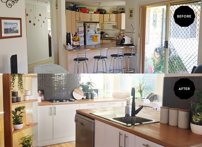 The transformed kitchen is much more spacious and accessible.