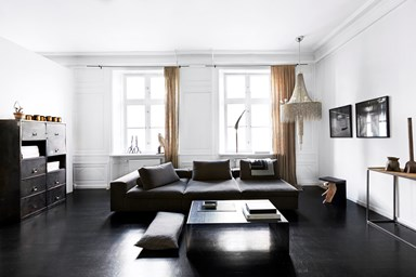 A fashion showroom transformed into a chic apartment