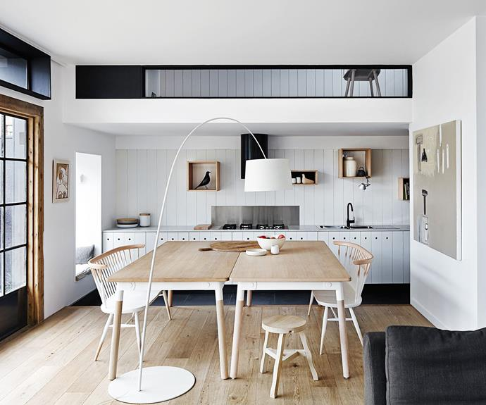 Scandinavian style kitchen and dining room