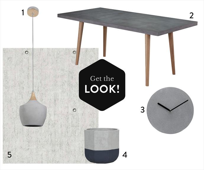 "**1.** Sculpt one-light drop pendant in Ash/Concrete, $169, from [Beacon Lighting](http://www.beaconlighting.com.au/|target=""_blank""