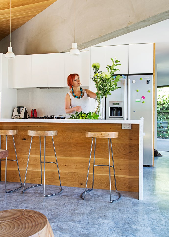 """Polished concrete floors are easiest to achieve in new builds, like this [environmentally-friendly home in the Mornington Peninsula](http://www.homestolove.com.au/environmentally-friendly-contemporary-family-home-3031
