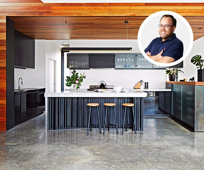concrete and timber kitchen