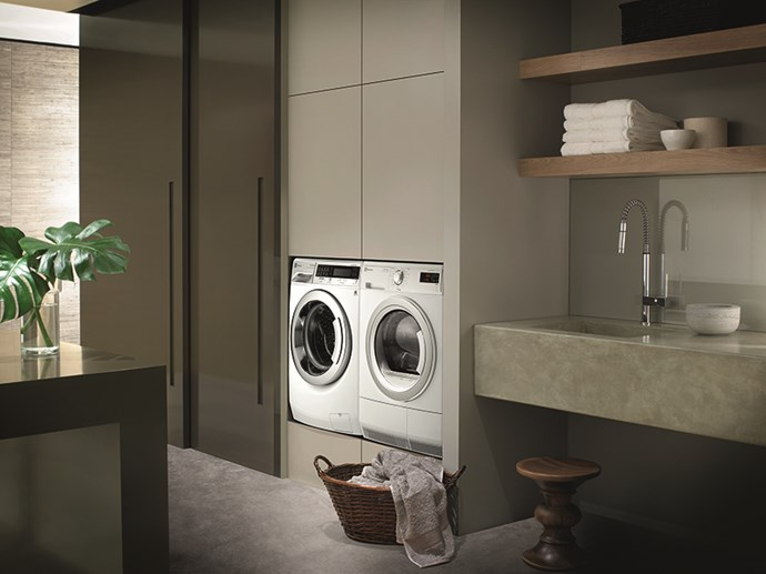 "**Invest in the best:** appliance manufacturers such as [Electrolux]( http://www.electrolux.com.au/|target=""_blank"") have a range of washers and dryers that include clever innovation and ergonomic design. Both your clothes and your laundry will never look better."