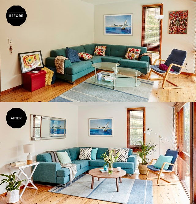 """Let this [living room makeover](http://www.homestolove.com.au/coastal-style-living-room-makeover-4324 target=""""_blank"""") inspire a refresh!"""