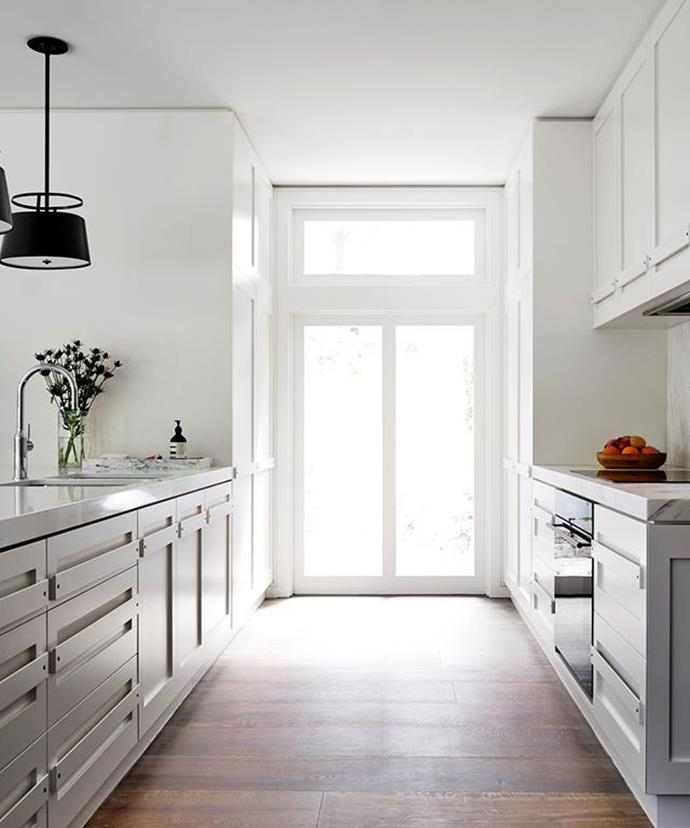 Natural light can help emphasise the spaciousness of a minimalist kitchen.