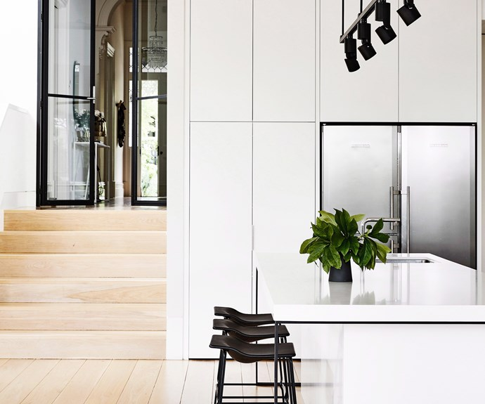 minimal white kitchen