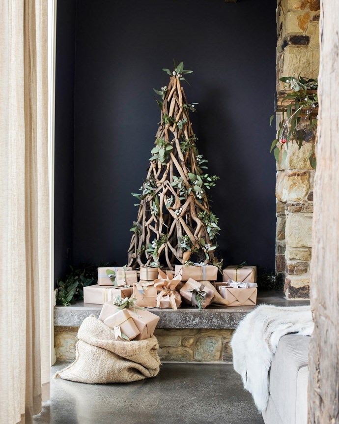 """Natural foliage from the bush that surrounds this [stone cottage in country Victoria](http://www.homestolove.com.au/tim-and-joannes-rustic-stone-cottage-2533