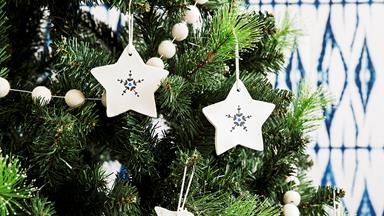 How to make clay Christmas ornaments