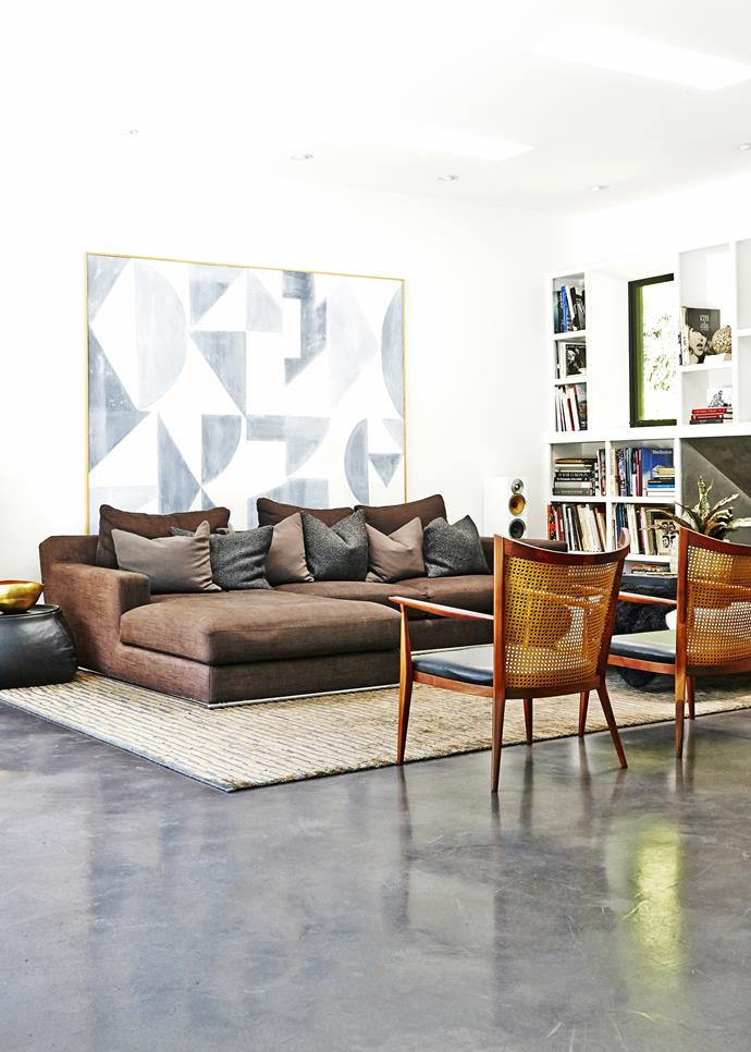 """""""I like mixing classic pieces with modern elements and industrial style – ensuring that the overarching feel is sensual and warm,"""" Maryam says of her decorating style."""