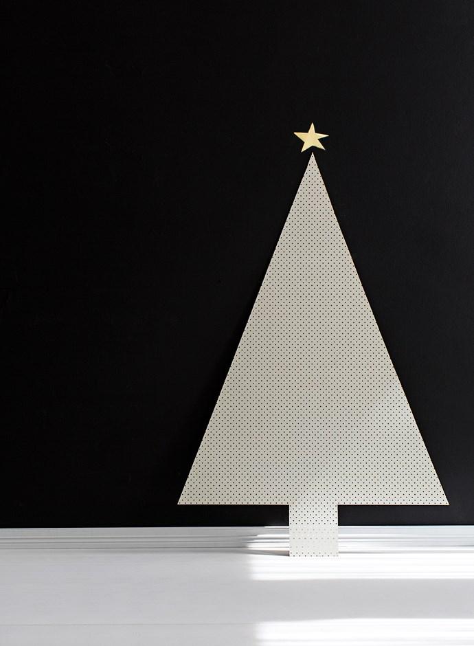 "Tree cost, $47.33: Masonite pegboard in White (1.83m x 1.22m), $45, [Bunnings](https://www.bunnings.com.au/|target=""_blank""|rel=""nofollow"")."