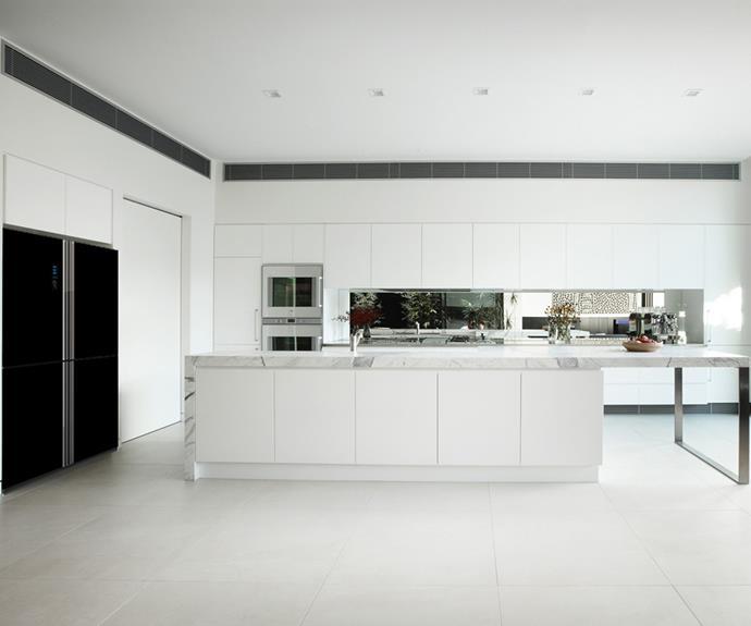 Use appliances, such as fridges and ovens, to make a high-contrast statement. *Photo: [Hisense](https://hisense.com.au/)*