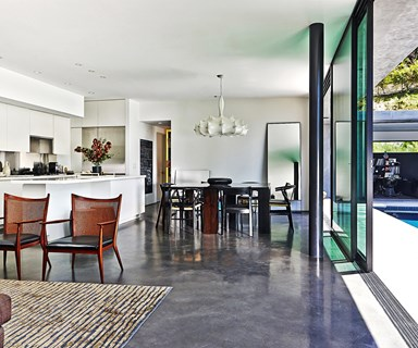 A 1940s bungalow is transformed into a chic entertainer