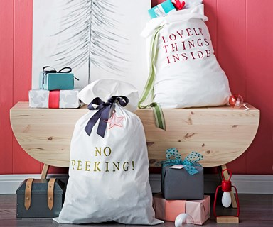 DIY personalised Santa sack