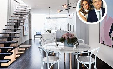 Rebecca and Chris Judd are auctioning off their Melbourne townhouse for charity