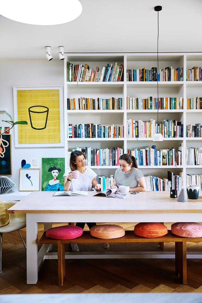 "**6.45am, at home** Rachel and her daughter Cleo, 16, share breakfast in the dining area of their renovated Federation home. Husband Daz and son Lucas, 14, are yet to surface. The [bookshelves](http://www.homestolove.com.au/how-to-shop-for-bookcases-in-8-steps-1945|target=""_blank"") are beloved. ""I love good fiction and good-looking books. They're works of art."