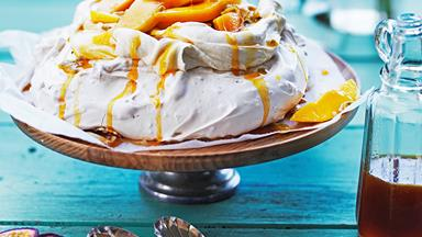 Pavlova with mango & passionfruit