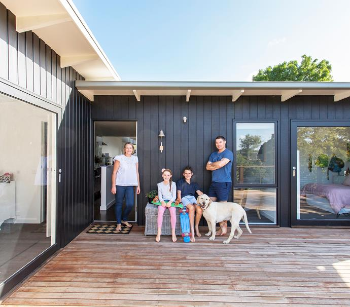"""""""The rear deck is a whole extra room for the family. We use it everyday for dining, table tennis – anything!"""" says Edwina."""