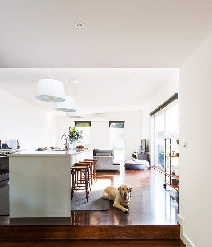 As a family, we revolve around the kitchen. The bench is a place for just about everything, whether it's dinner, homework or a glass of wine. I really love that I can see virtually every area of the house and garden from the kitchen bench – as a very keen cook I spend a lot of time there!