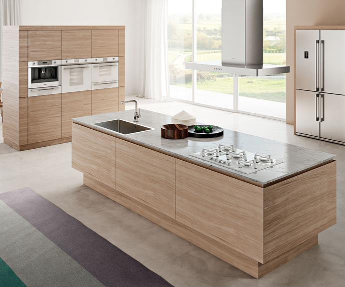 Smeg's Linear collection features reflective glass for minimalist style across the full range including 60cm oven, compact ovens, warming drawer and coffee machine. Photography: supplied