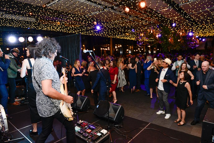 Phil Ceberano and the Supersound band kept guests entertained.