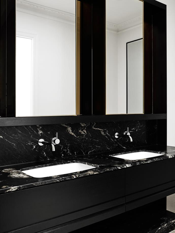 "The main bathroom features Titanium'granite benchtops in Black from [CDK Stone](http://www.cdkstone.com.au/|target=""_blank""
