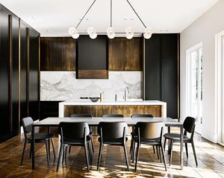 Modern marble kitchen