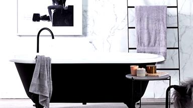 How to style a black and white bathroom