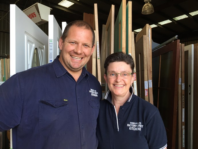 Chris and Cath from Taree Recycled. Image credit: Little Red Industries