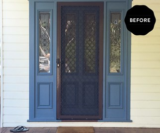 before and after entrance makeover