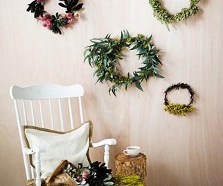Fresh flower wreath