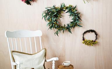 DIY floral Christmas wreath