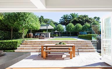 A sprawling family garden designed for entertaining