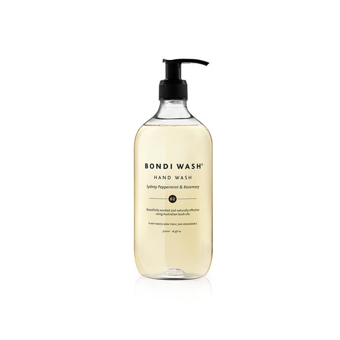 Peppermint & Rosemary Hand Wash, $30, [Bondi Wash](https://bondiwash.com.au/products/hand-wash).