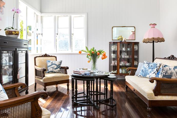 """Nicki is an avid collector of antique Australian furniture, especially pieces by Brisbane maker Ed Rosenstengel, so the interiors had to be a canvas for that,"" says Daniella."