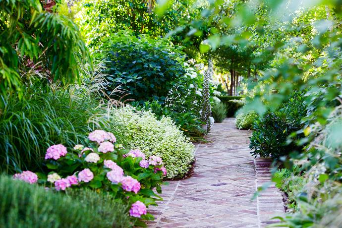 While the garden has strong lines and a strict, formal structure, it's softened by the abundance of a mixed border garden enveloping the house.