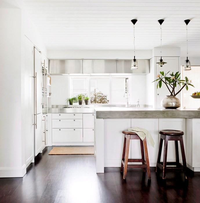 Due to its durability, concrete has an industrial vibe that should be softened with the aid of natural materials such as timber. Photo: Maree Homer / bauersyndication.com.au