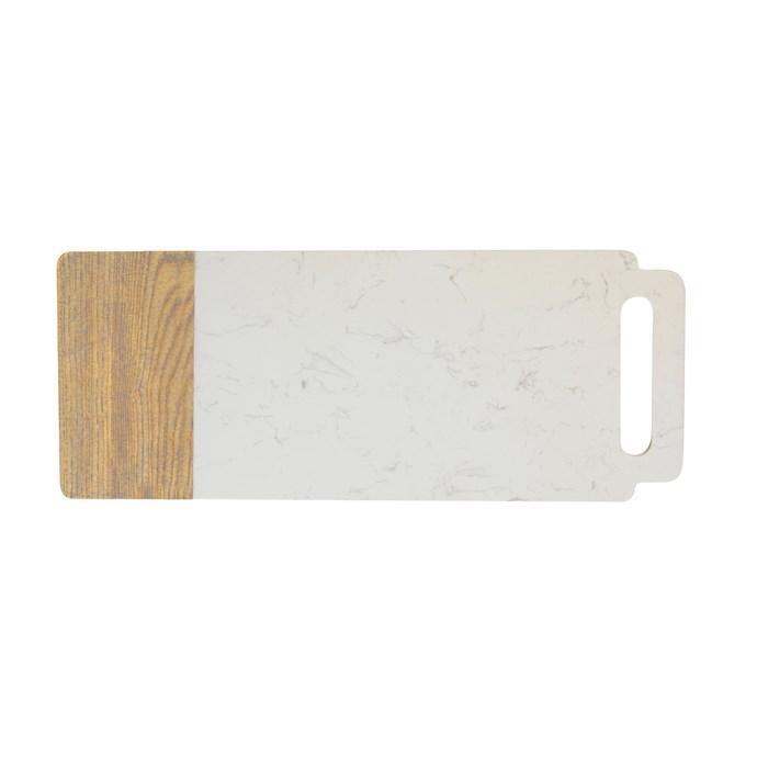 Elemental Marble Ash Serving Board, $79.95, [Maxwell & Williams](https://www.maxwellandwilliams.com.au/product/elemental-marble-ash-board-handle-50x20cm).