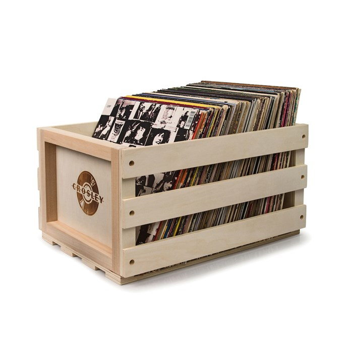 Crosley Record Storage Crate, $79.95, [Hard To Find](http://fave.co/2hbJcoM).