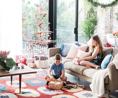Inside a florist's renovated bungalow festooned with festive flowers