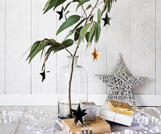 DIY Christmas star ornaments