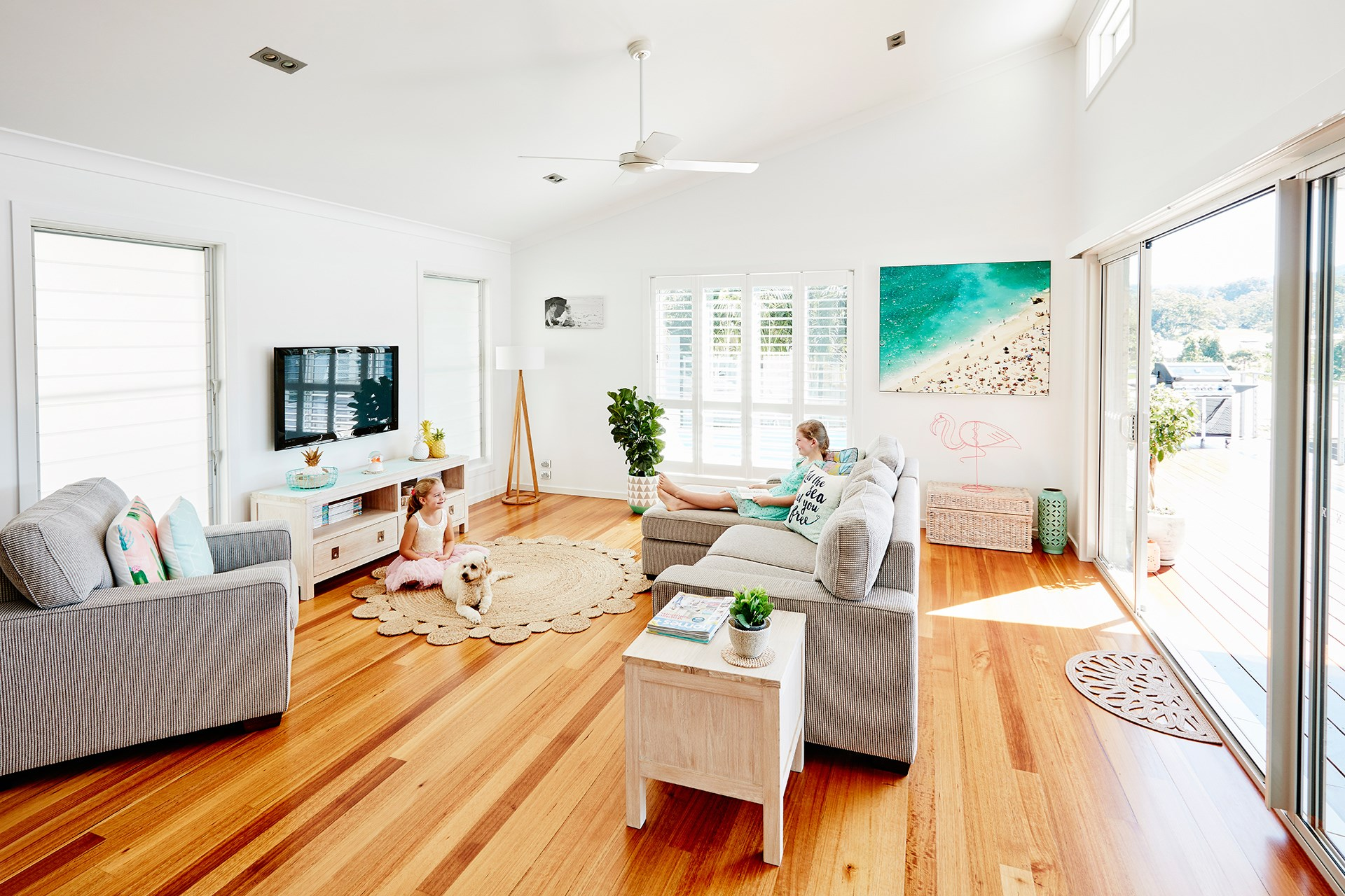 **Sharna Lyndsay** A sea change from Melbourne to Coffs Harbour landed this family a bright and breezy coastal home with plenty of room to grow. [See the full home here](http://www.homestolove.com.au/a-sea-change-with-style-4509) or [vote for this home](http://www.homestolove.com.au/homes-reader-home-of-the-year-4499).