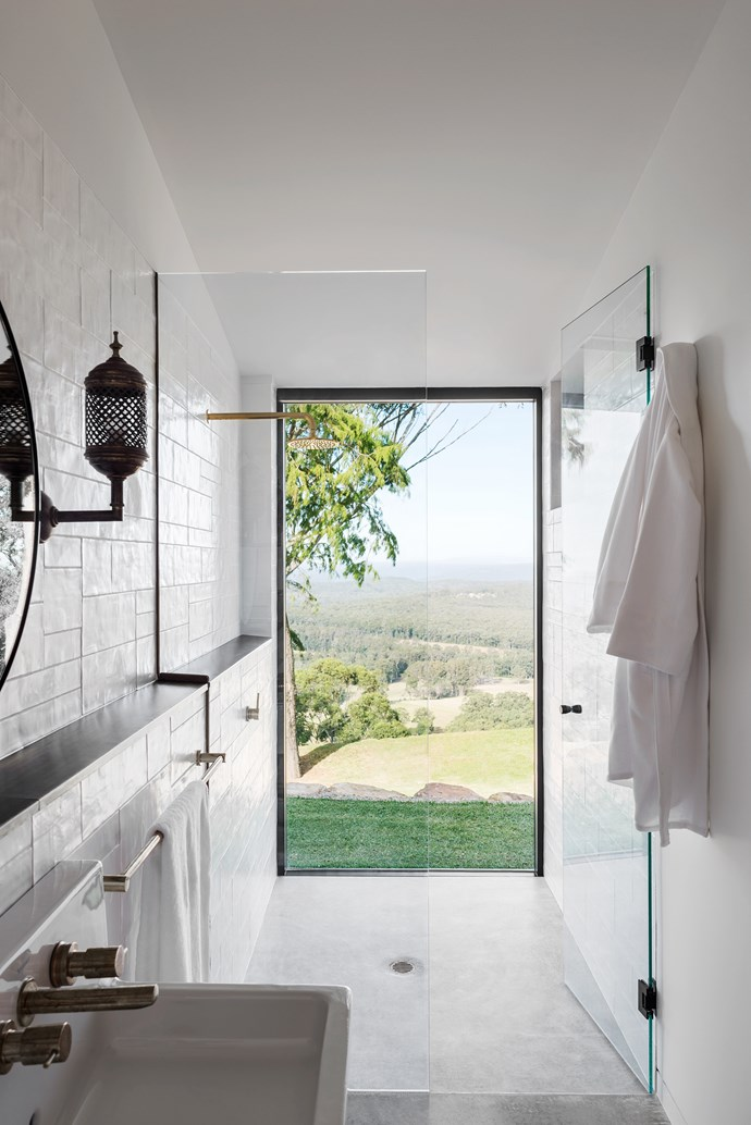 The bathroom with a view has tapware by Candana.