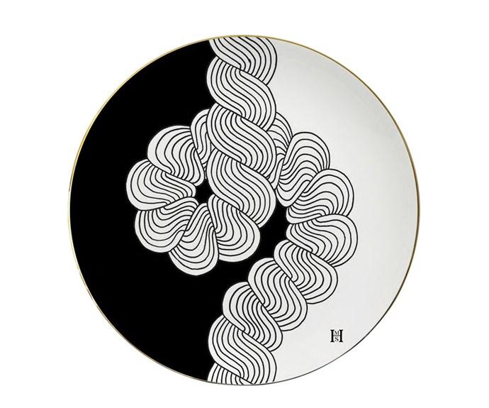 Knot fine bone china plate (26.5cm), about $205, [HMS Studio](http://www.hmsstudio.com/).