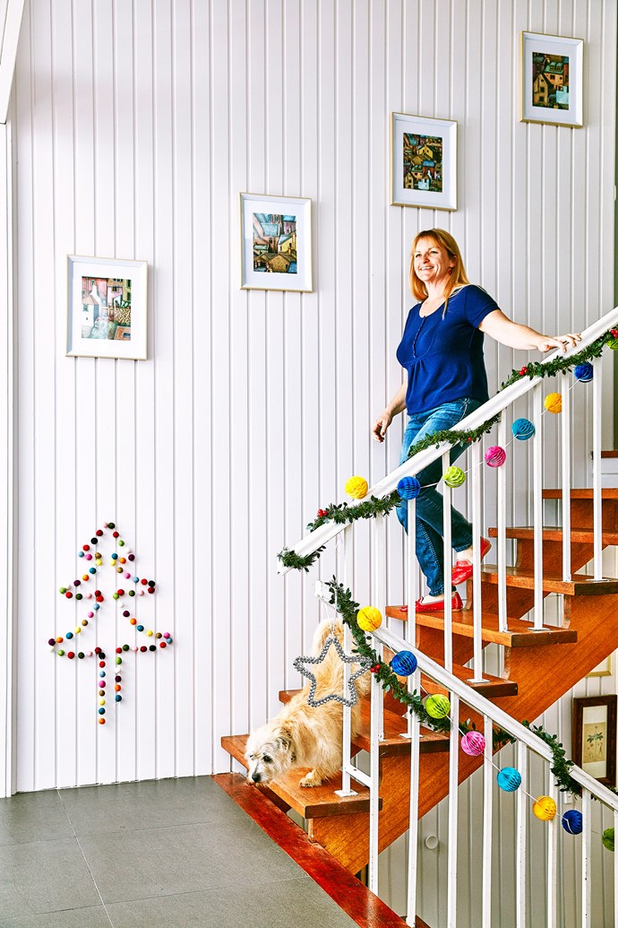 Christmas comes in many colours! Freckle garland from The Woodsfolk, $39.