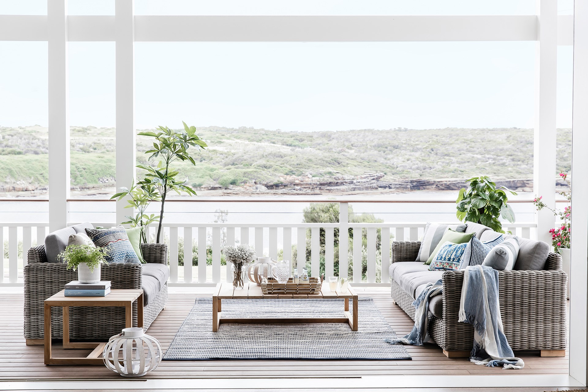 This [light-filled waterfront home](http://www.homestolove.com.au/coastal-style-an-airy-new-build-in-sydney-4577) embraces seamless indoor-outdoor living with an inviting veranda that takes advantage of the view. Photo: Maree Homer / Australian House & Garden