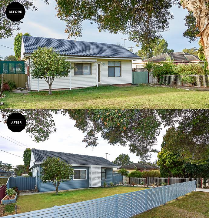 The outside of the house was bland and boring with no outstanding features and an unfenced yard.