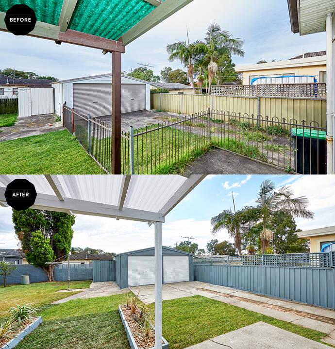Old fibreglass, fencing and concreting weren't doing any favours for the backyard aesthetic.