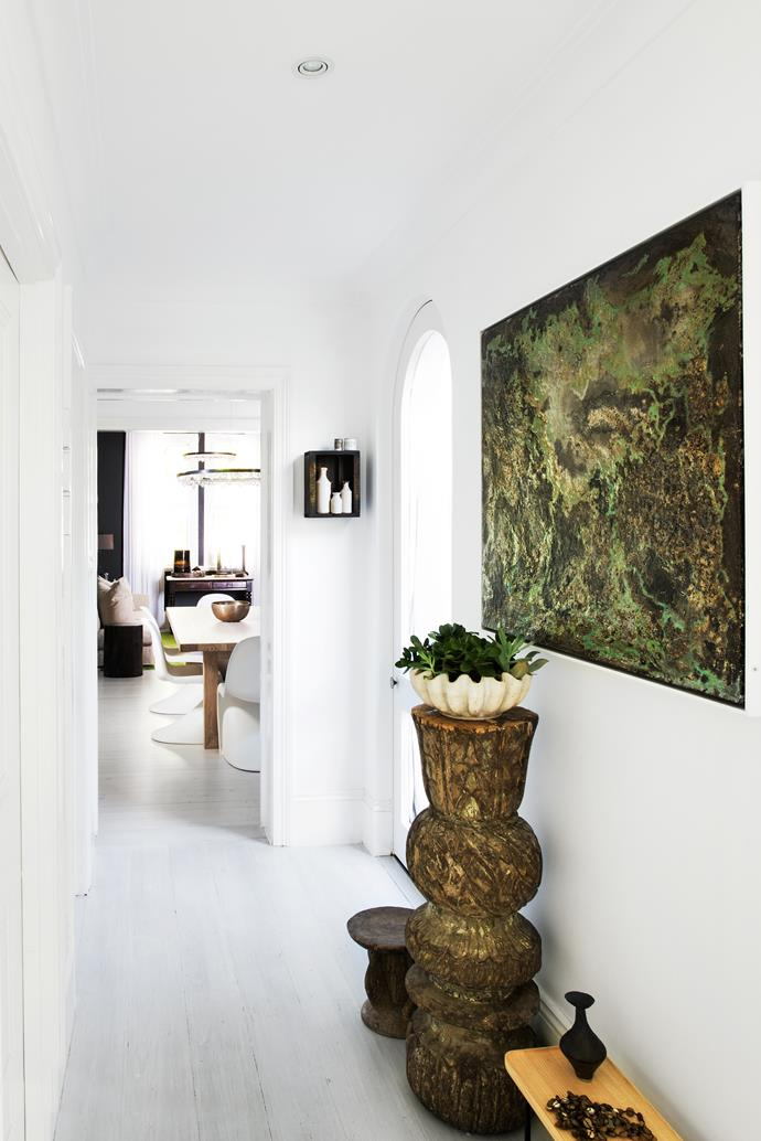 Flooring is limed in Porter's Paints 'Plaster of Paris'. Walls painted in Dulux 'Vivid White'.