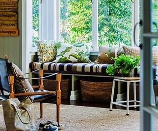 serene green interior